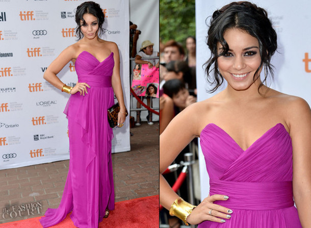 dress love pink prom dress prom dress vanessa hudgens