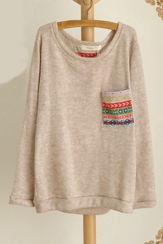 sweater ethnic ethnic print navajo loose oversized sweater