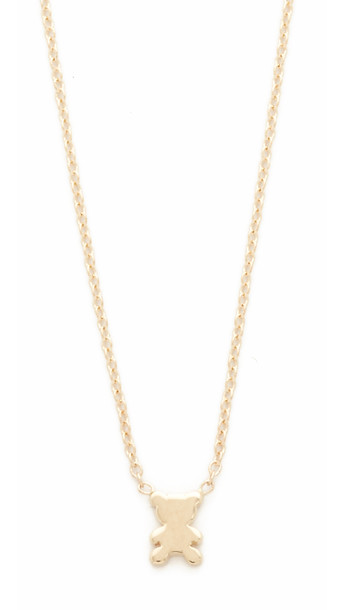 Ariel Gordon Jewelry The Menagerie Teddy Bear Necklace - Gold