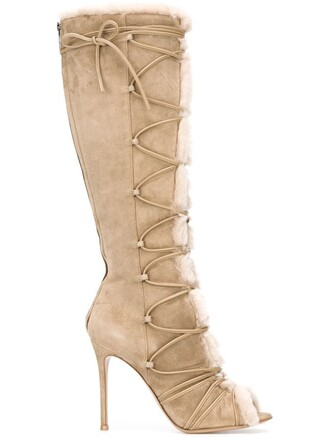 strappy boots nude shoes