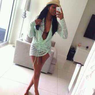 swimwear mint cover up knit cover up knit beach wrap