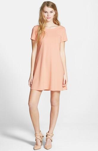 dress peach dress