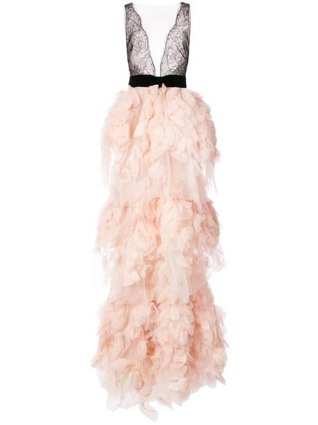 Marchesa gown women purple pink dress