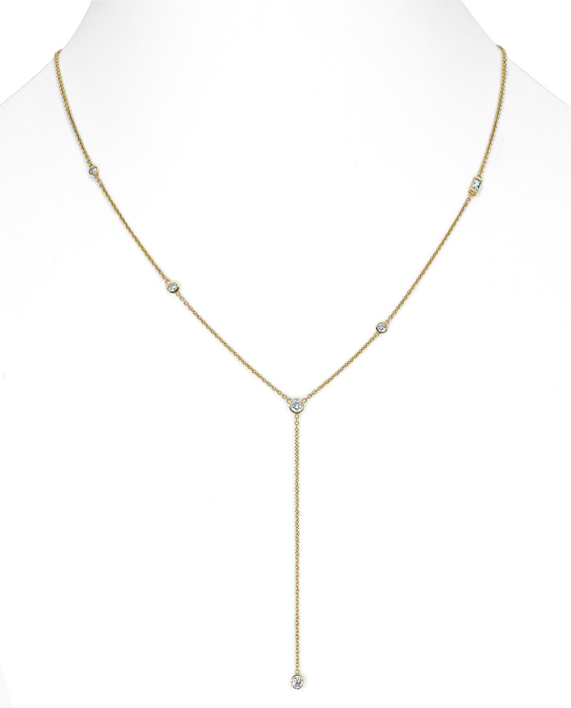 Diamond star droplet necklace | Logan Hollowell Jewelry