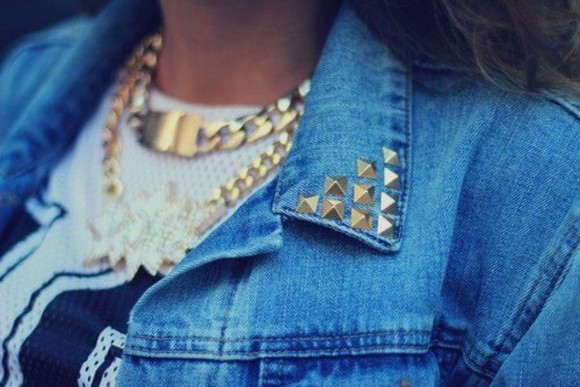 jacket blue jacket jewels nice