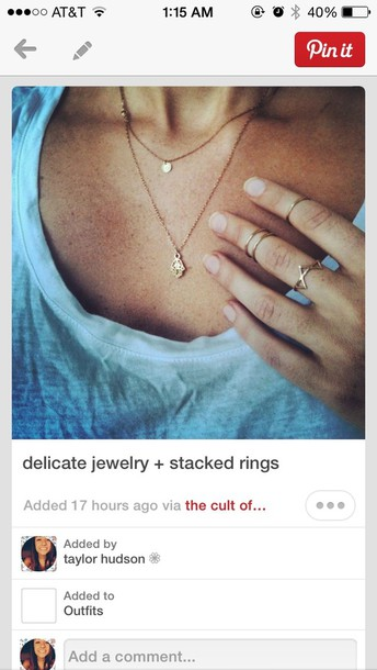 jewels gold layered necklace knuckle ring jewelry