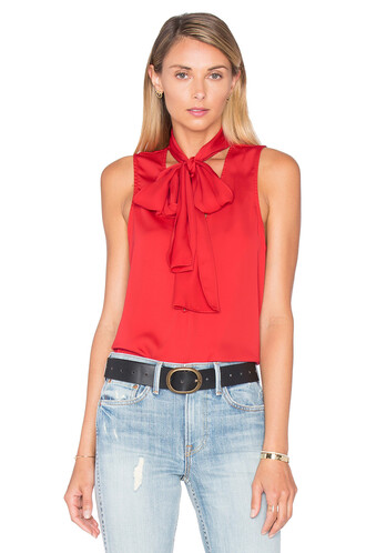 blouse red top