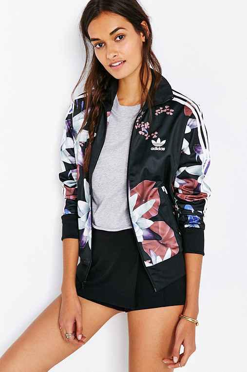 Adidas originals lotus print track from urban outfitters for Adidas floral shirt urban outfitters