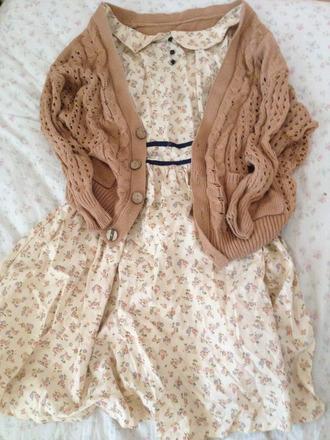 dress short dress brown jacket spring awakening floral pattern floral pattern dress