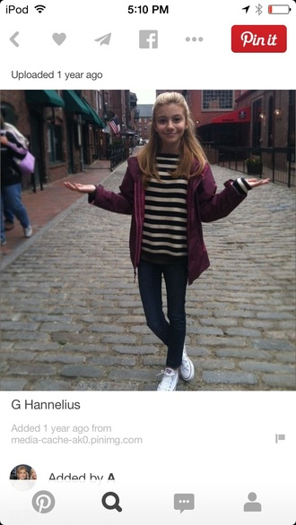shirt g hannelius jacket top pants genevieve hannelius dog with a blog disney black white celeb stripes