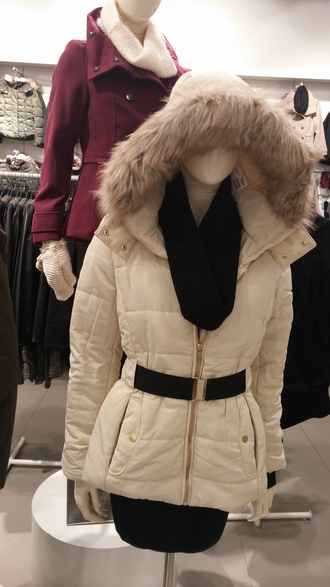 coat white hood winter outfits