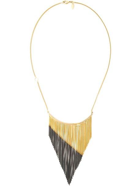 IOSSELLIANI sun women necklace gold black grey metallic jewels