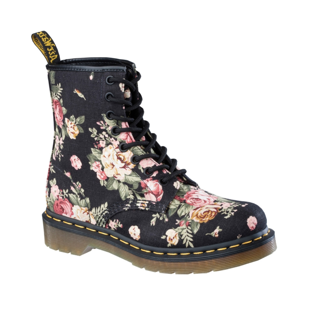 21 luxury doc martens womens floral boots. Black Bedroom Furniture Sets. Home Design Ideas