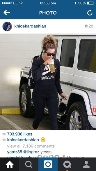 top khloe kardashian sportswear nike shoes nike running shoes nike free run khloe kardashian black gym leggings gym clothes sports pants sports top sports bra sports shoes sporty fashion celeb gym clothes khloe kardashian gym clothes shirt nike cropped workout top