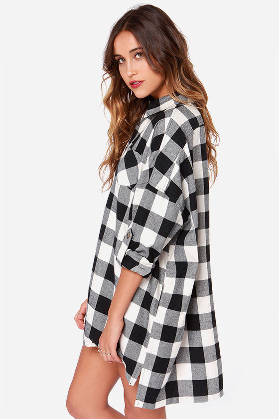 Grey long sleeve plaid loose blouse