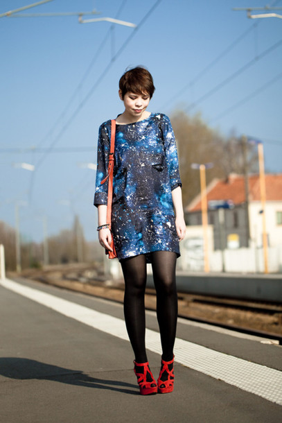 galaxy print galaxy dress cosmic nebula urban outfitters dress