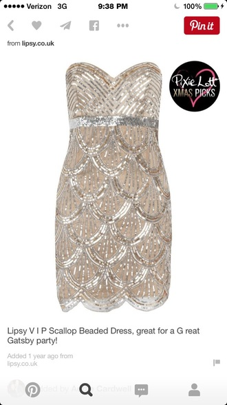dress the great gatsby gold sparkly