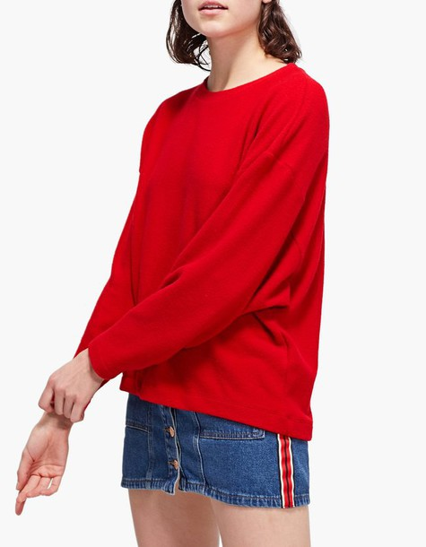 Stradivarius t-shirt shirt t-shirt red top