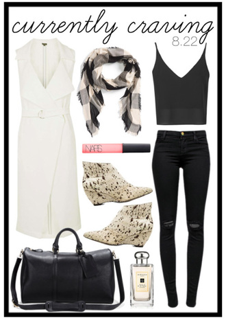 for all things lovely blogger sleeveless coat skinny jeans outfit idea