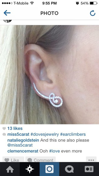 jewels earrings ear cuff earclimber