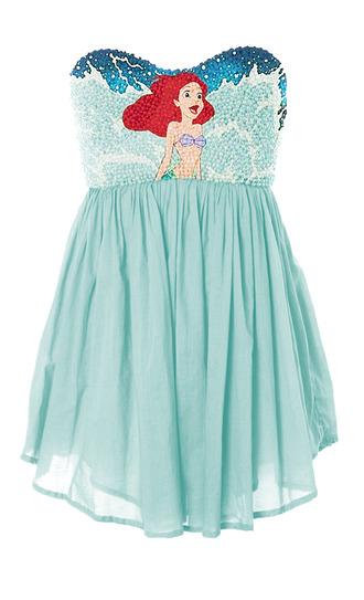 dress blue dress the little mermaid