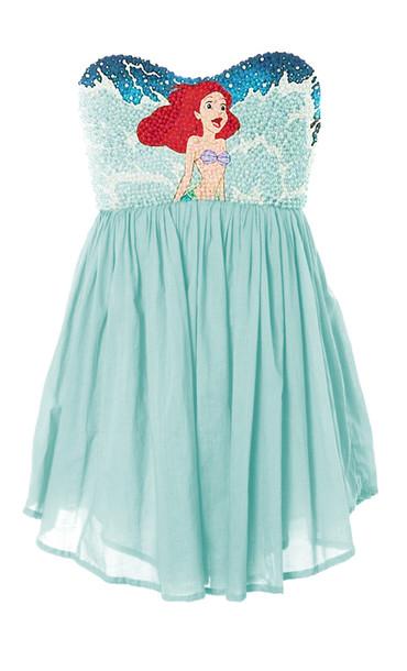 dress blue dress ariel ariel the little mermaid edit tags