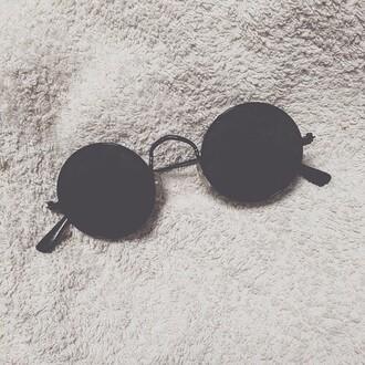 sunglasses circle grunge pop punk rock alternative
