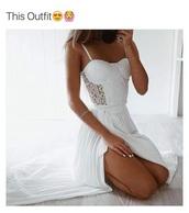 dress,white,white dress,long dress,white long dress,crochet,bustier dress