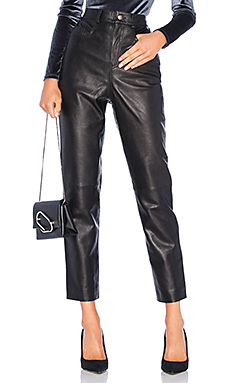 LPA Leather Pant 417 in Black from Revolve.com