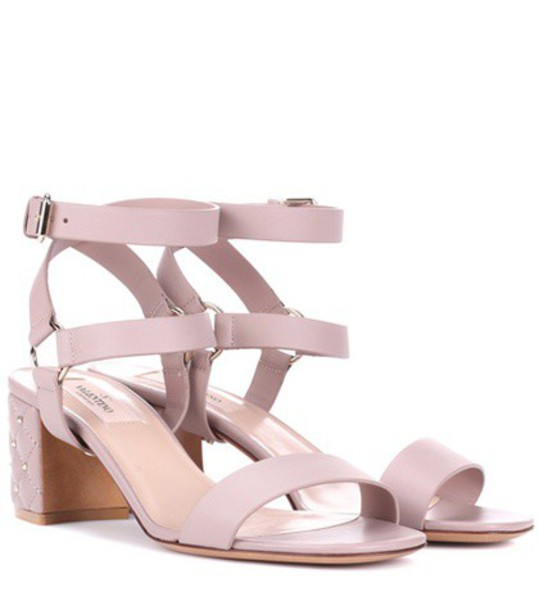 sandals leather sandals leather pink shoes