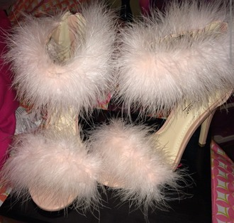 shoes fur feathers heels cute shoes cute sandals fur shoes girly fun style