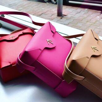 bag pink pink bag red red bag manu atelier crossbody bag