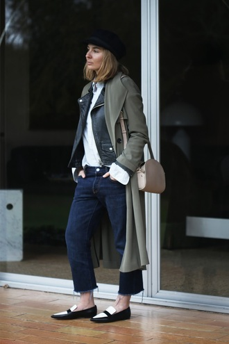 jane's sneak peak blogger coat shirt jacket jeans hat shoes bag