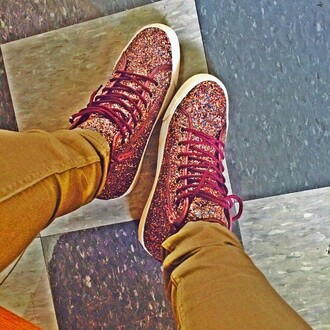 shoes sneakers glitter girly multi