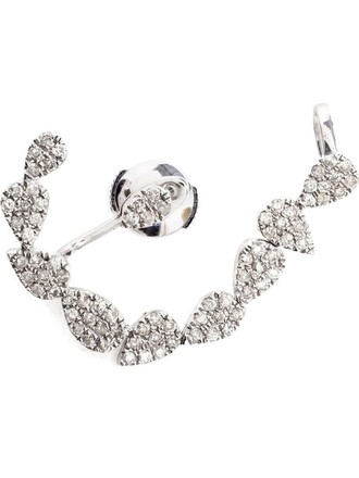 cuff ear cuff white jewels