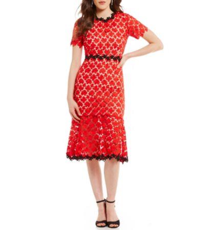 e32bbb12ee2 Jill Jill Stuart Floral Lace Open-Back Midi Dress