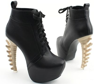 Special Unique Sexy Womens High Bone Looks Heels Platform Round Toe Boots Shoes   eBay