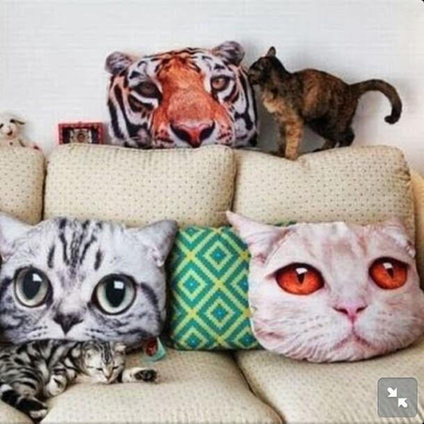 Jewels Pillow Cats Cats Cute Sweet Miau Rawr Funny Home Decor