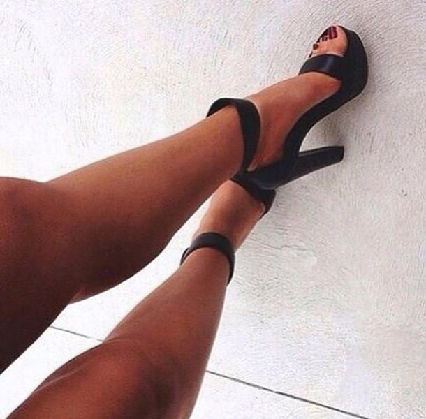 shoes girly shoes heels high heels black heels black  high heels style fashion girly