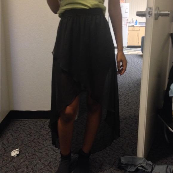 Hi low black skirt S from Vallen's closet on Poshmark