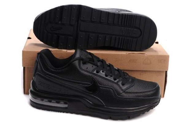 shoes air max ltd black leather