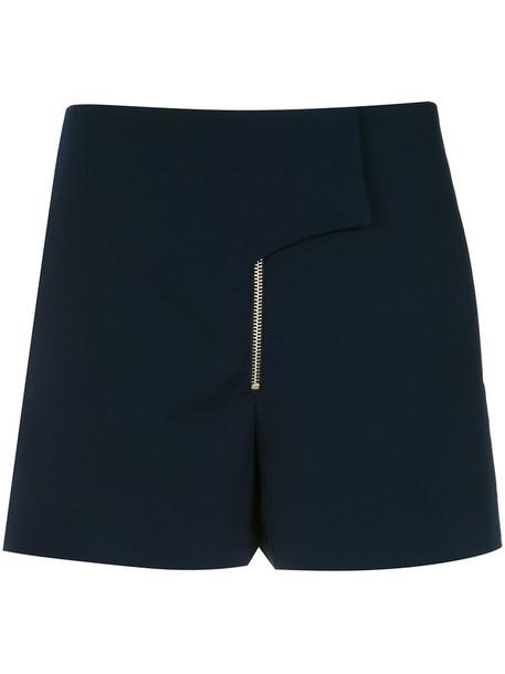 shorts women spandex blue