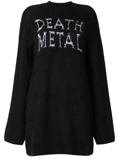 jumper metal women death mohair wool sweater