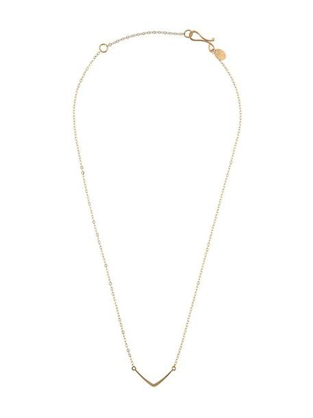 Melissa Joy Manning women necklace pendant gold yellow orange jewels