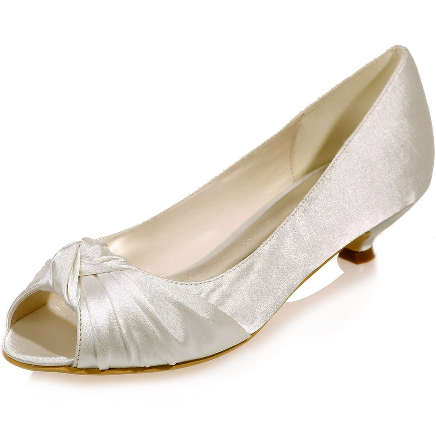 Wide Width Bridal Shoes Ivory