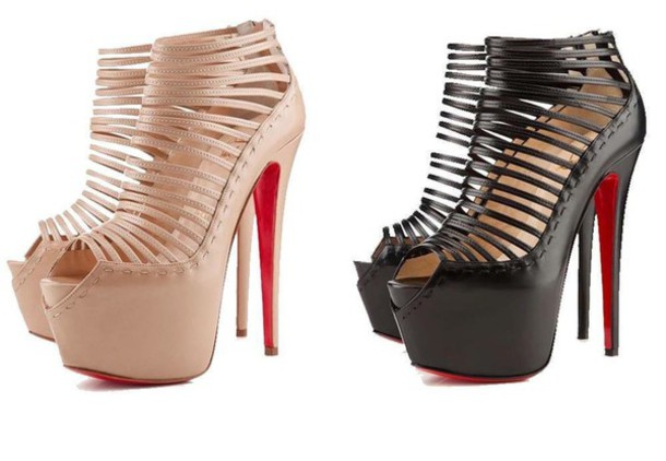 shoes nude black black shoes high heels black heels louboutin christian louboutin shoes sexy sexy shoes