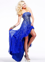 dress,have three colors :lilac,sleeveless and strapless,have sequins and beadings
