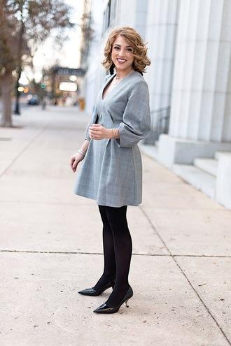 something delightful blogger dress jewels bag shoes tights