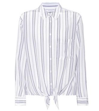 shirt tie front silk top