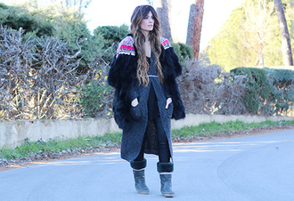madame rosa blogger cardigan belt t-shirt shoes coat